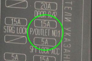 C-HRヒューズ15A P/OUTLET NO.1