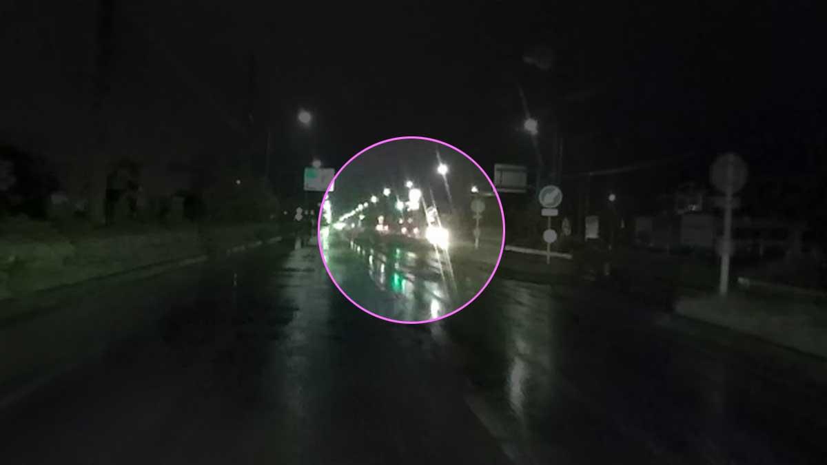 ドラレコ映像:対向車が来ても気づかず。