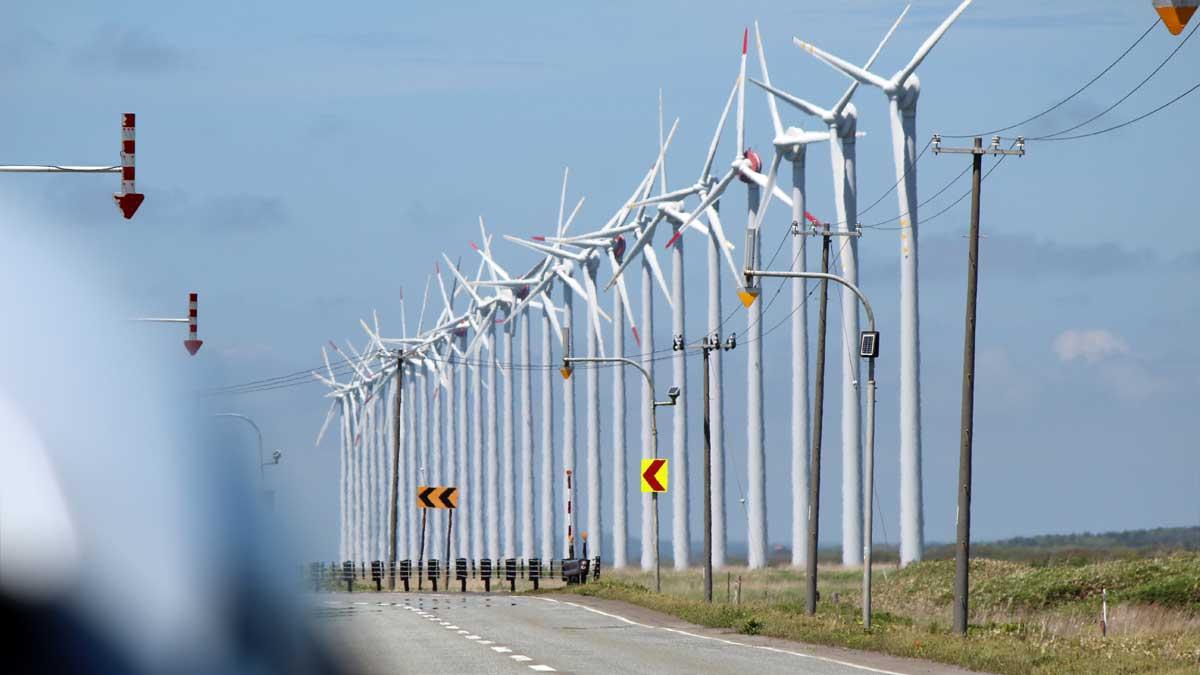 オトンルイ風力発電所に到着