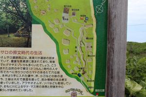 オムサロ遺跡公園案内板