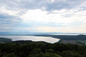 天都山展望台より・網走湖方面