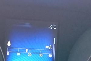 外気温-9℃