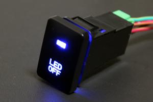 トヨタ用コネクタワイヤキット付き青色LEDプッシュスイッチ