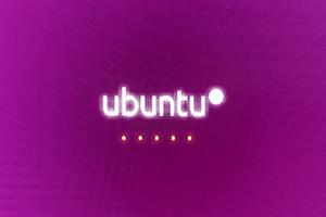 「Ubuntu」起動画面
