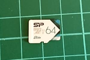 シリコンパワー microSDXCカード 64GB