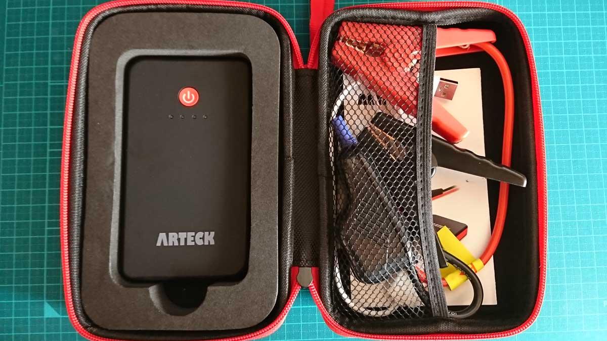 Arteck ジャンプスターター パッケージ内容