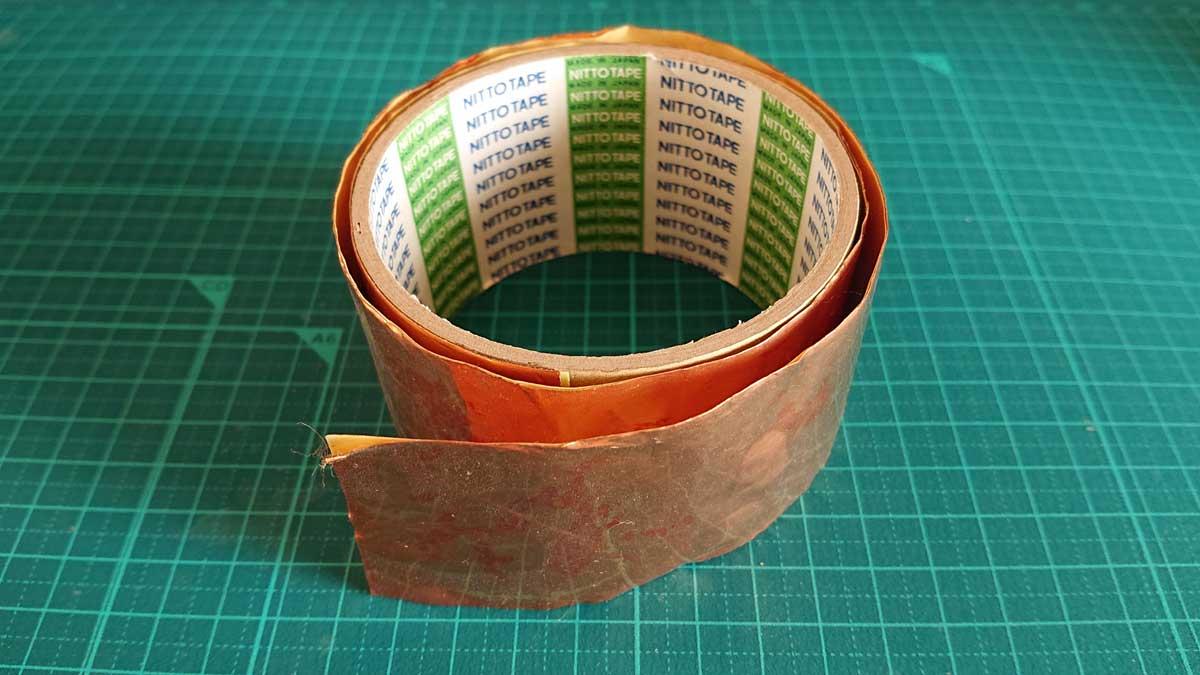 自宅にあった銅箔テープ