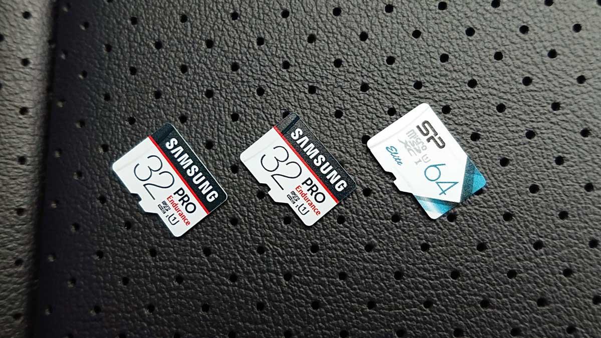 64GBmicroSDカードとドライブレコーダー向け高耐久32GBmicroSDカード